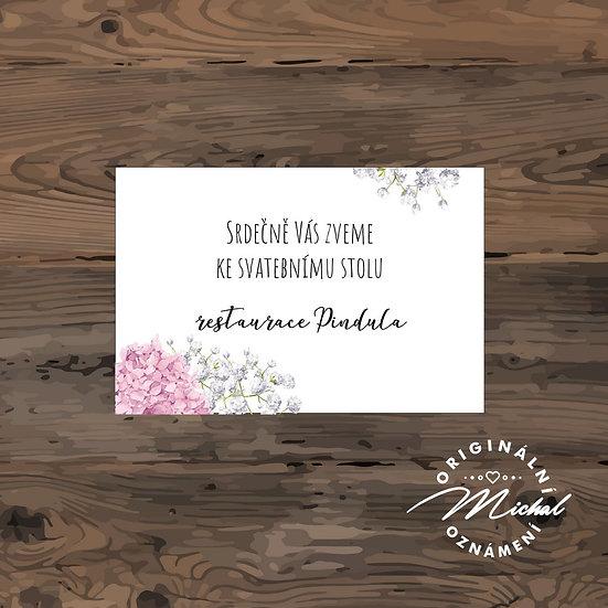 Srdečně vás zveme ke svatebnímu stolu