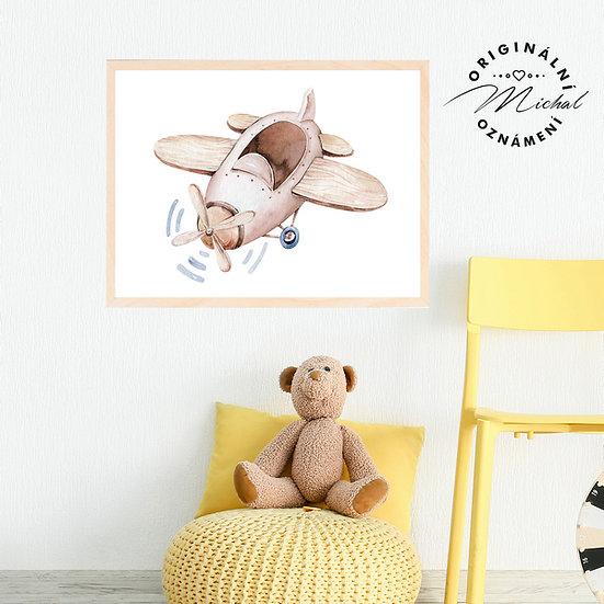Plakát letadélko se zajíčkem