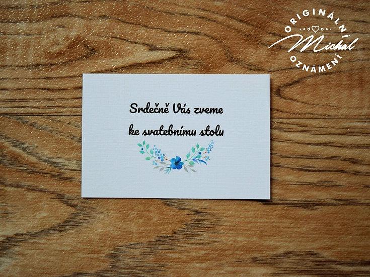 Pozvánka ke svatebnímu stolu - TYP 43