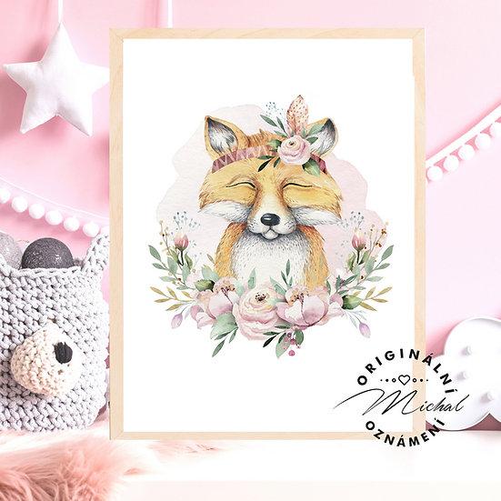Plakát liška liščí slečna