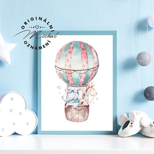 Plakát létající balón