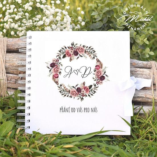 Svatební kniha hostů v pevných knižních deskách - 72