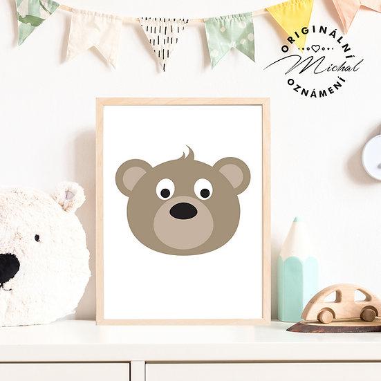 Plakát medvídek hlavička