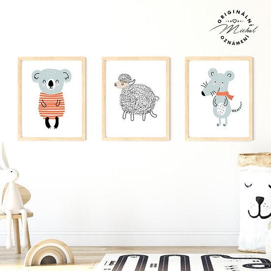 Plakát set myška ovečka