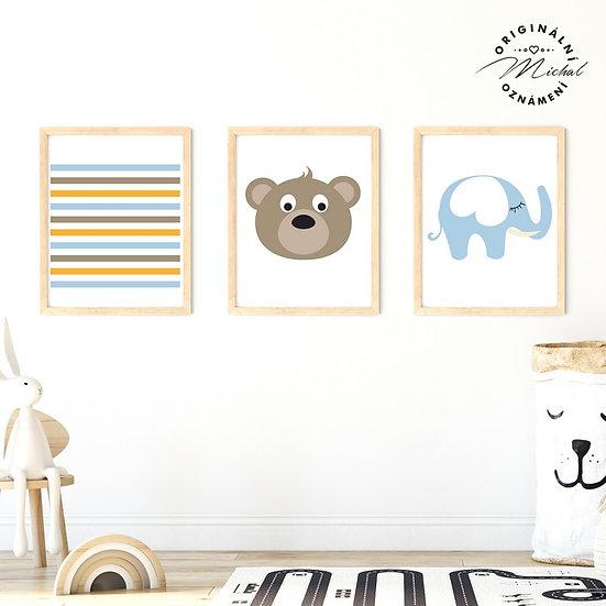 Plakát set medvídek a sloneček