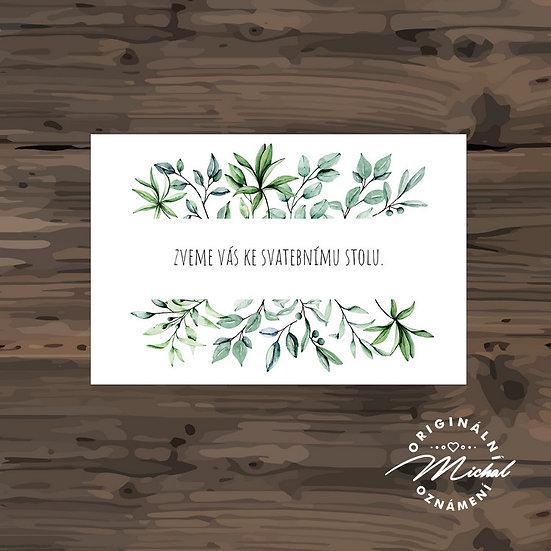 Pozvánka ke svatebnímu stolu - TYP 304
