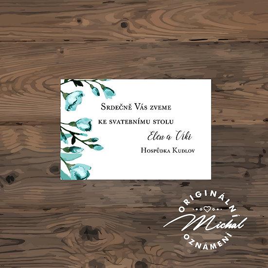 Pozvánka ke svatebnímu stolu - TYP 148