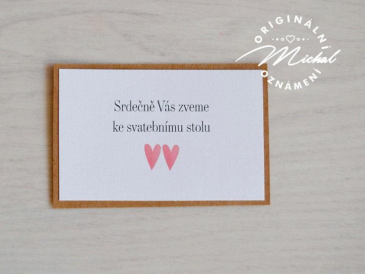 Pozvánka ke svatebnímu stolu - TYP 19