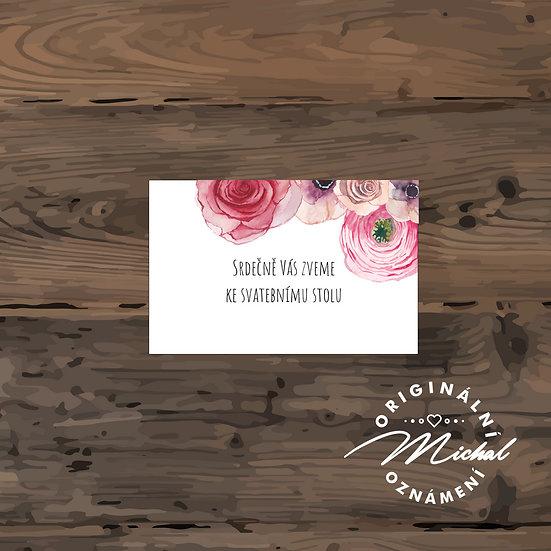 Pozvánka ke svatebnímu stolu - TYP 76