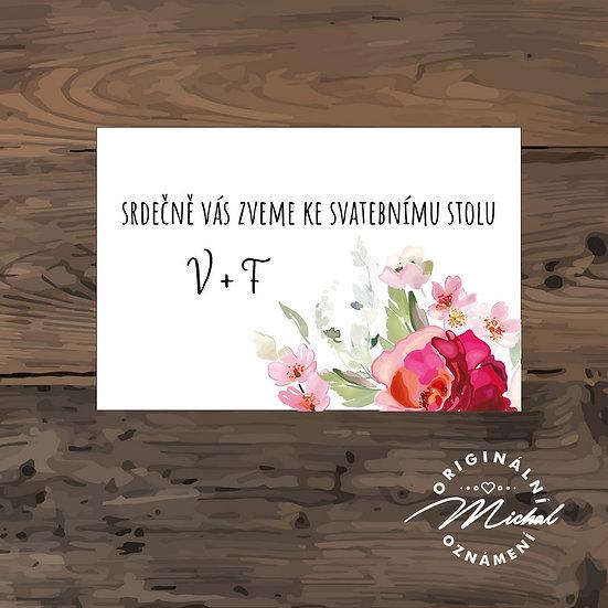 Pozvánka ke svatebnímu stolu - TYP 271