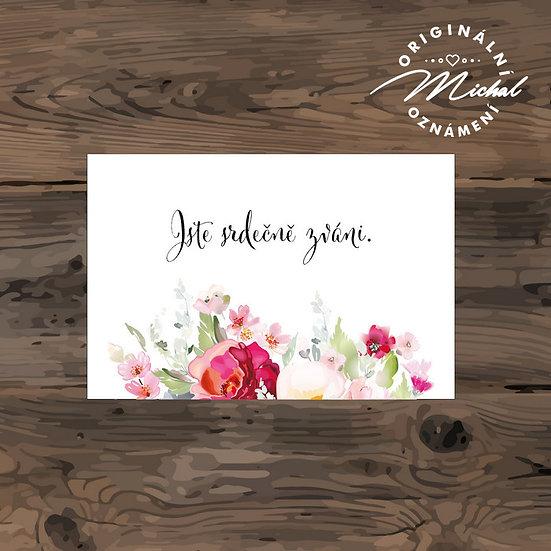Pozvánka ke svatebnímu stolu - TYP 247