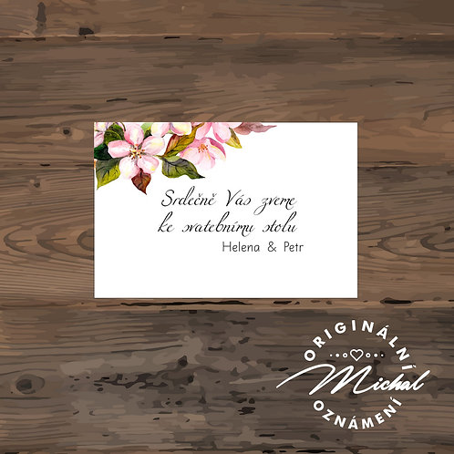 Pozvánka ke svatebnímu stolu - TYP 137