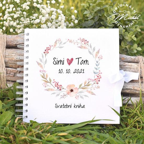 Svatební kniha hostů v pevných knižních deskách - 75