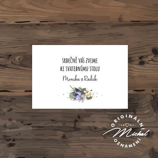 Pozvánka ke svatebnímu stolu - TYP 108