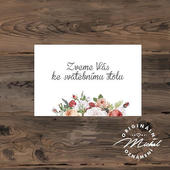 Pozvánka ke svatebnímu stolu - TYP 253