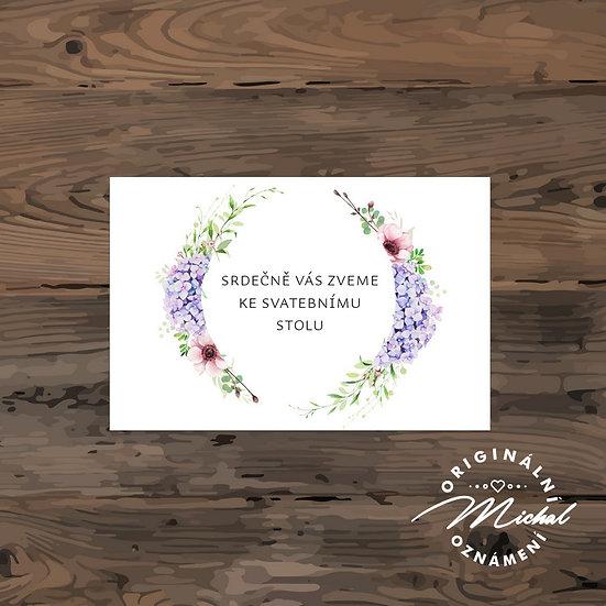 Pozvánka ke svatebnímu stolu - TYP 220