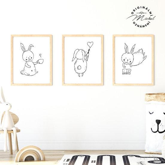 Plakát set zajíčkové nejroztomilejší