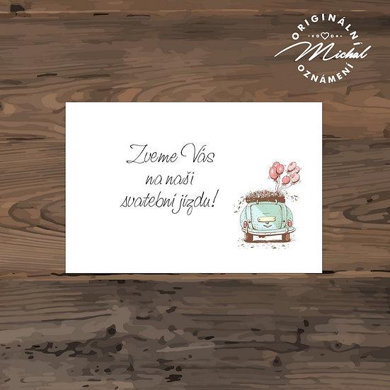 Pozvánka ke svatebnímu stolu - TYP 237