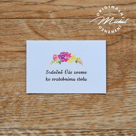 Pozvánka ke svatebnímu stolu - TYP 53