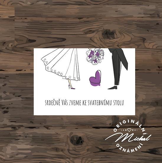 Pozvánka ke svatebnímu stolu - TYP 69