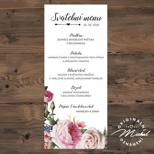 Svatební menu - TYP M01