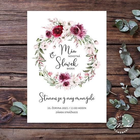 Svatební oznámení - TYP 340