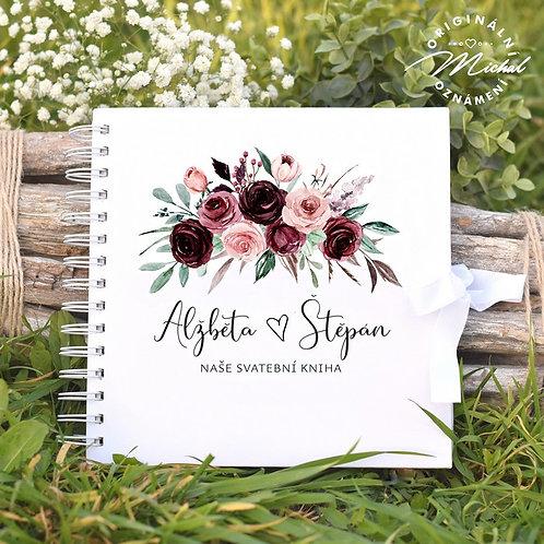 Svatební kniha hostů v pevných knižních deskách - 29