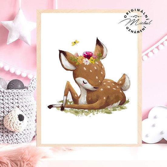 Plakát roztomilá srnečka Anežka