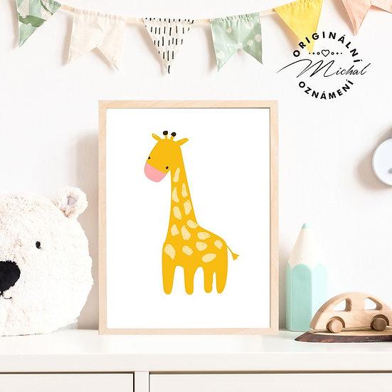 Plakát roztomilá žirafka Anička
