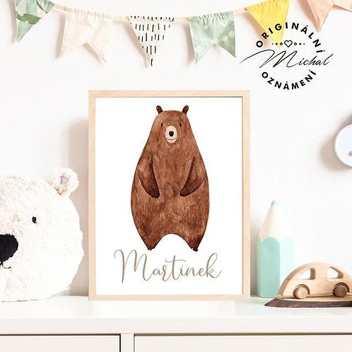 Plakát se jménem medvídek 70