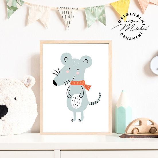 Plakát myš myška Tonička