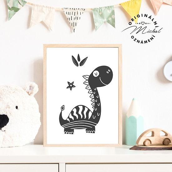 Plakát dinosaurus diník 2 pro kluky