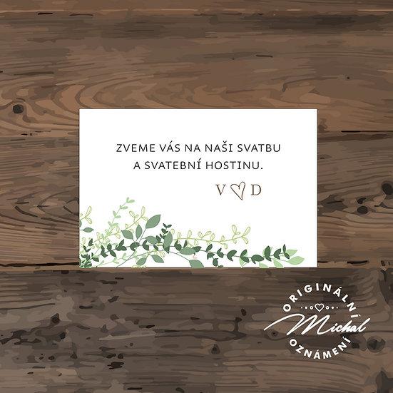 Pozvánka ke svatebnímu stolu - TYP 158