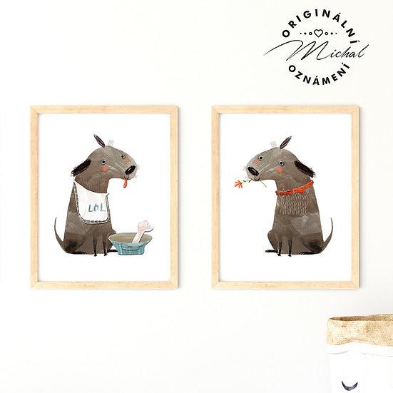 Plakát set pejskové hafíci pes
