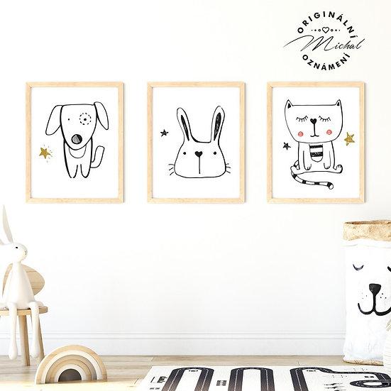 Plakát set hafík srdíčko a kočička