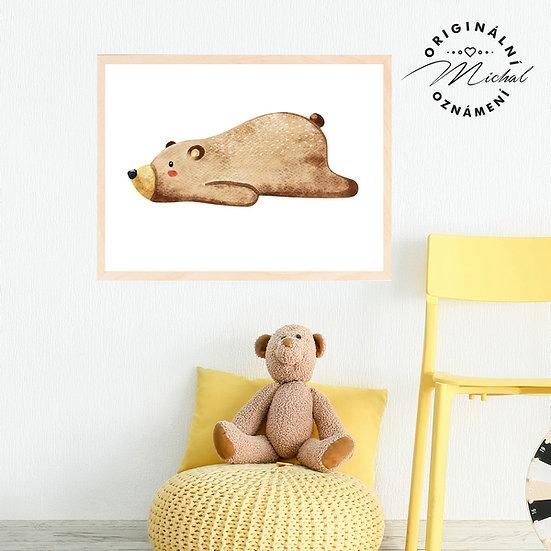 Plakát Medvídek unavený
