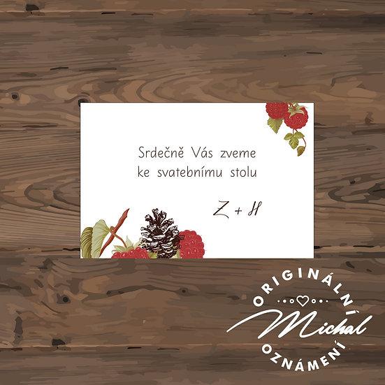 Pozvánka ke svatebnímu stolu - TYP 143