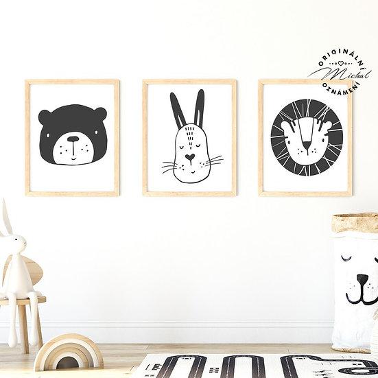 Plakát set zvířátka 2
