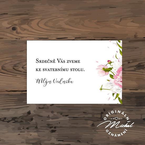 Pozvánka ke svatebnímu stolu - TYP 169