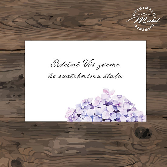 Pozvánka ke svatebnímu stolu - TYP 241