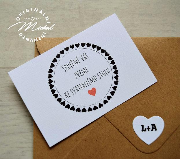 Pozvánka ke svatebnímu stolu - TYP 30