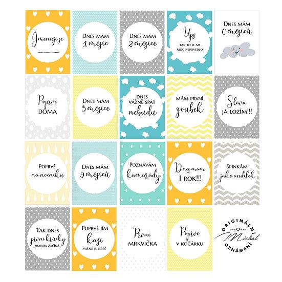 Milníkové kartičky pro kluky a holčičky 1