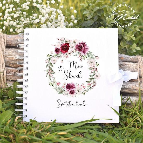 Svatební kniha hostů v pevných knižních deskách - 48