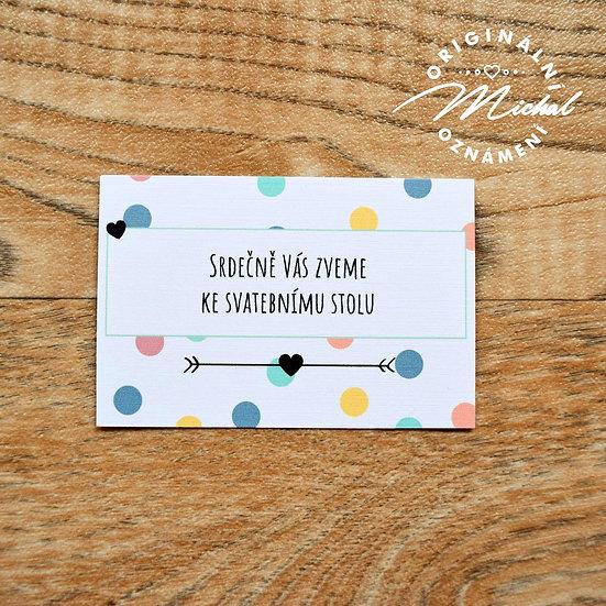 Pozvánka ke svatebnímu stolu - TYP 33