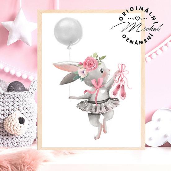Plakát zajíček baletka