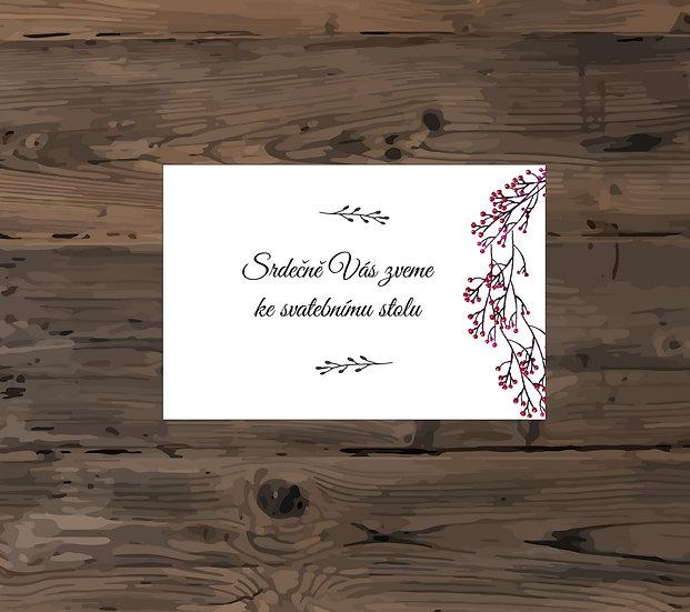 Pozvánka ke svatebnímu stolu - TYP 127