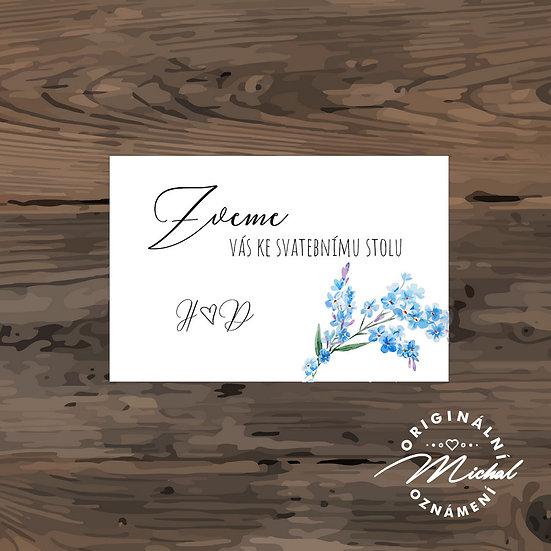 Pozvánka ke svatebnímu stolu - TYP 264