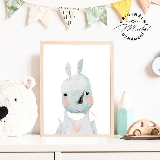 Plakát hroší holčička hrošík