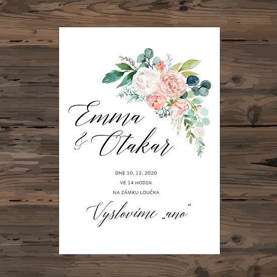 Svatební oznámení - TYP 291