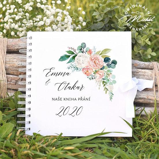 Svatební kniha hostů v pevných knižních deskách - 23